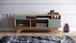 Sideboard Eikfineer / Industrial Green